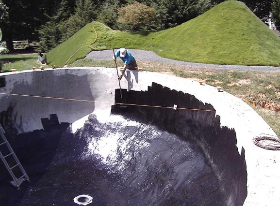 آب بند کردن استخرهای ساخته شده توسط بتن